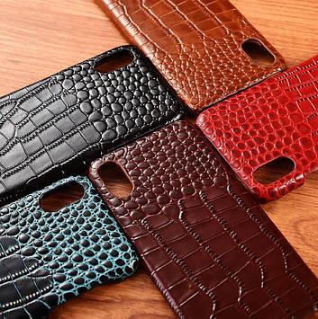 """Чехол накладка полностью обтянутый натуральной кожей для Tecno Spark 7 Pro """"SIGNATURE"""""""