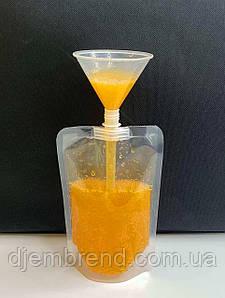 Пакет для лимонада, коктейлей и соков дой-пак со штуцером, 500-600 мл