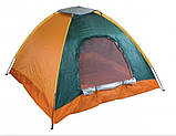 Палатка 3-х местная Manual 2*2м  туристическая кемпинговая с вентиляцией универсальная для кемпинга, фото 6