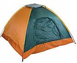 Палатка 3-х местная Manual 2*2м  туристическая кемпинговая с вентиляцией универсальная для кемпинга, фото 7