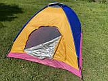 Палатка 3-х местная Manual 2*2м  туристическая кемпинговая с вентиляцией универсальная для кемпинга, фото 2
