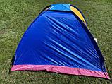 Палатка 3-х местная Manual 2*2м  туристическая кемпинговая с вентиляцией универсальная для кемпинга, фото 10