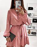 Красиве жіноче літнє плаття з поясом, фото 5
