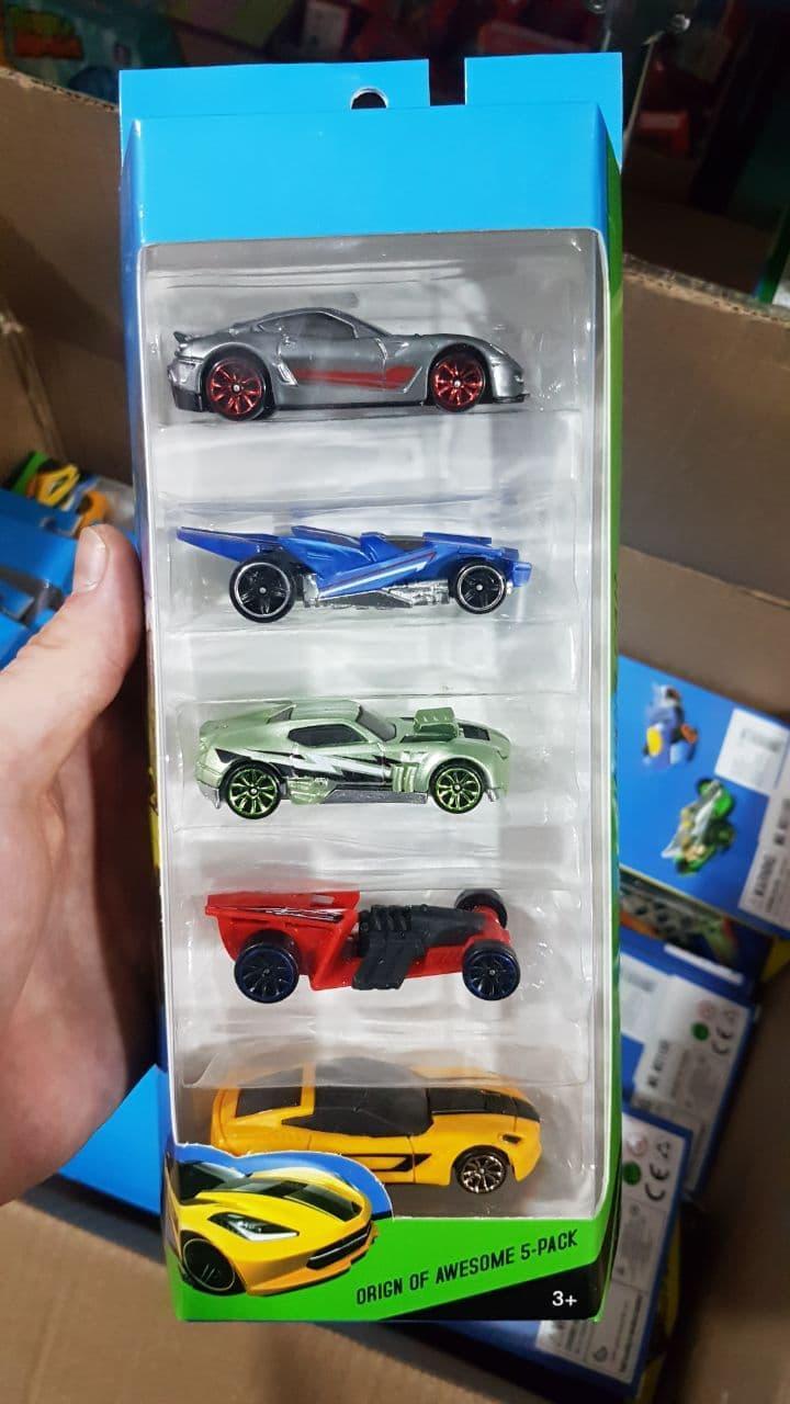 Набор машинок Hot Wheel, 5 машин в комплекте, хот вилс машинки