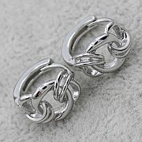 Серьги Xuping Серебряные Крупная Цепь