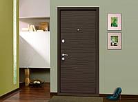 Двері вхідні SARMAK Аріадна Еталон 860 R,L Венге гір. темне/Білий супермат