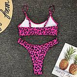 Купальник роздільний леопард-рожевий, фото 2