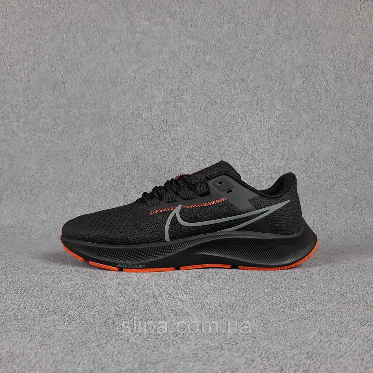 Чёрные мужские текстильные кроссовки Nike на чёрной подошве | Вьетнам | текстиль + пена