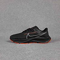 Чёрные мужские текстильные кроссовки Nike на чёрной подошве | Вьетнам | текстиль + пена, фото 1