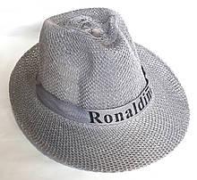 Шляпа пляжная Fashion (58 см) светло-серая