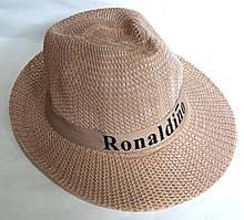 Шляпа пляжная Fashion (58 см) светло-коричневая