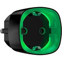 Ajax Socket Радіокерована розумна розетка з лічильником енергоспоживання, чорна