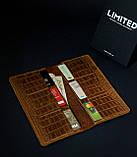 Чоловічий подарунковий набір шкіряних аксесуарів Millenium Crazy Whyski, фото 4