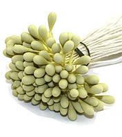 Тычинки Матовые Лимонные на нитке 3 мм 25 шт/уп