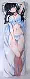 Дакімакура Подушка обнімашка 100х40 см із змінною наволочкою Міюкі Шиба (Mahouka), фото 3