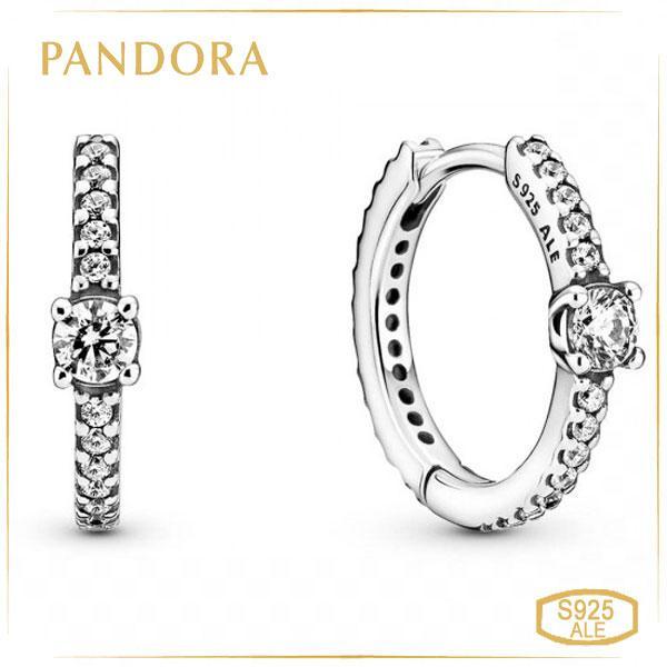 Пандора Серьги-кольца Элегантность Pandora 299406C01