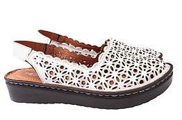 Туфли женские летние на низком ходу из натуральной кожи, белые Mario Muzi Турция