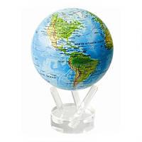 """Гиро-глобус Solar Globe """"Физическая карта Мира"""" 11,4 см (MG-45-RBE)"""