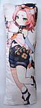 Дакімакура Подушка обнімашка 100х40 см із змінною наволочкою Genshin Impact - Клі & Діона ( Klee & Diona ), фото 3