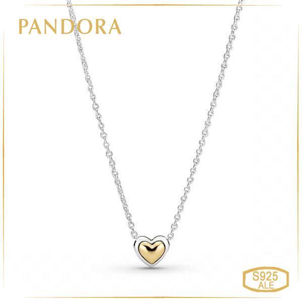 Пандора Колье Золотое сердце Pandora 399399C00