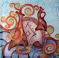 Абстрактная картина Ностальгия по Климту 2 Декорирования стен (картина для декора)
