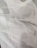 Тюль на люверсах Тюль з фатину Готовий фатиновый тюль Тюль 500х270 з фатину білий Тюль на люверсах, фото 2