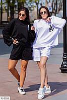 Костюм женский стильный прогулочный шорты с кофтой свободного кроя р-ры 42-44,44-46 арт 006