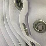 Тюль на люверсах Тюль з фатину Готовий фатиновый тюль Тюль 500х270 з фатину білий Тюль на люверсах, фото 5