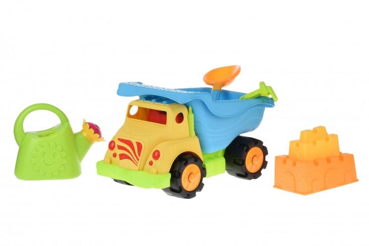 Same Toy Набор для игры с песком Грузовик желтый (6 ед.)