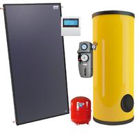 Гелиосистема ГВС с плоским коллектором SPK-F2 на 150 л горячей воды в сутки  на 3 человек
