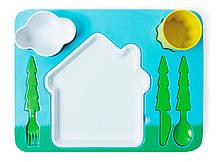 Набір дитячого посуду для обіду, зелений