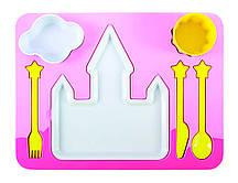 Набір дитячого посуду для обіду, рожевий