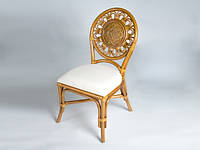 CRUZO Обідній стілець Асканія CRUZO натуральний ротанг королівський дуб os210019