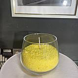 Желтый насыпной воск, насыпная свеча + фитиль  фасовка от 100грамм, фото 3