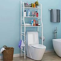 Підлоговий туалетний шафа регульований по висоті Toilet Rack, Білий, фото 1