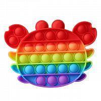 """Комплект Сенсорная игрушка антистресс POP IT Игрушка """"нажми на пузырь"""" BOUBLE PUSH клубника краб сова, фото 2"""