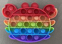 """Комплект Сенсорная игрушка антистресс POP IT Игрушка """"нажми на пузырь"""" BOUBLE PUSH клубника краб сова, фото 3"""
