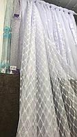 Тюль з жакарда біла, висота 2,8 м ( 56048 ), фото 5