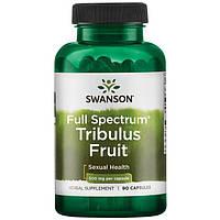 Трибулус, якорцы, Tribulus, Swanson, 500 мг, 90 капсул