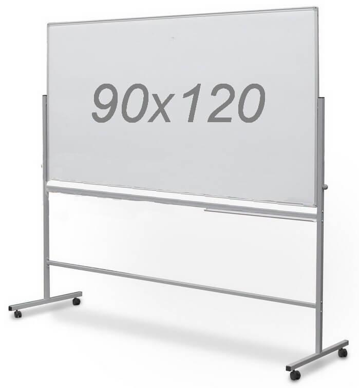 Доска магнитно-маркерная двухсторонняя поворотная UkrBoards 90 х 120 см. Белая доска для маркера