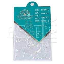 Стразы Global Fashion размер-SS3 1140 штук (стекло, хамелеон)