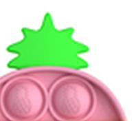 """Комплект Брелок антистрес POP IT ананас і Simple Dimp Амонг Іграшка """"натисни на міхур"""" BOUBLE PUSH, фото 5"""
