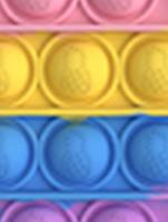 """Комплект Брелок антистрес POP IT ананас і Simple Dimp Амонг Іграшка """"натисни на міхур"""" BOUBLE PUSH, фото 4"""