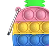 """Комплект Брелок антистрес POP IT ананас і Simple Dimp Амонг Іграшка """"натисни на міхур"""" BOUBLE PUSH, фото 7"""