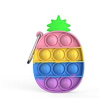 """Комплект Брелок антистрес POP IT ананас і Simple Dimp Амонг Іграшка """"натисни на міхур"""" BOUBLE PUSH, фото 2"""