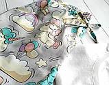 Піжама бавовняна з єдинорогами, футболка і шорти, фото 4