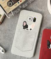 """Силиконовый чехол """"Собака"""" для Samsung Galaxy S6"""