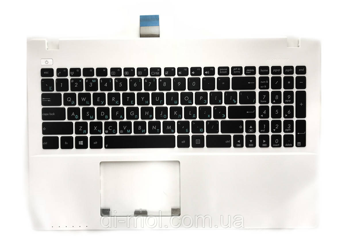 Оригинальная клавиатура для ноутбука ASUS X550 series, передняя панель, rus, white