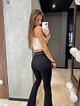 Жіночі брюки жіночі кльош з розрізами, фото 5