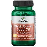 Масло семян черного тмина Swanson Black Cumin Seed Oil 500 mg 60 caps